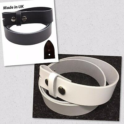 Men,s Genuine Cowhide 100% Real Leather Belt Snap On Strap Without Buckle
