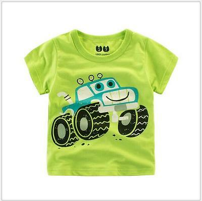 Baby Boys Tops 100% Cotton Summer T Shirts for Children 1-9Years k03