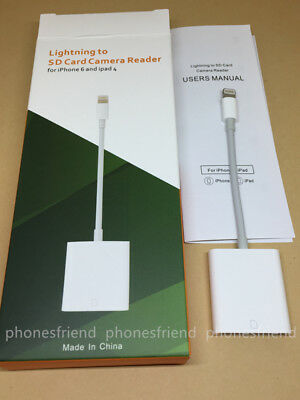 Genuine/New Apple Lightning to SD Card Camera Reader Adapter (USB 3) w/ Packing