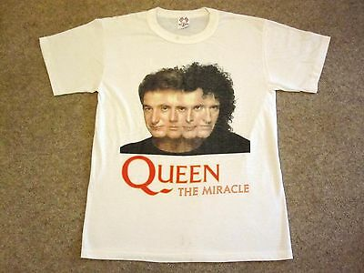 QUEEN  :  Vintage THE MIRACLE Promo T-Shirt Official Merchandise (1989)