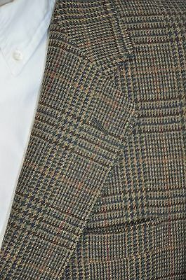 40S Jos A Bank Multi Colored Plaid 2 Button Vented Sport Coat Blazer Jacket USA