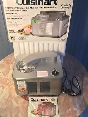 Cuisinart ICE-50BC Supreme Stainless Steel Ice Cream / Frozen Yogurt Maker