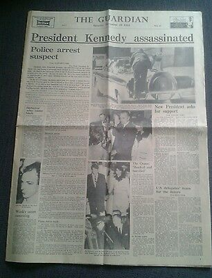 The Guardian NEWSPAPER-Nov 23 1963-President Kennedy Assassinated.