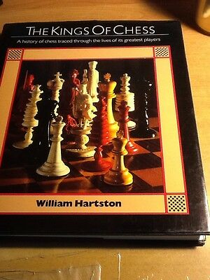 1st US Ed WILLIAM HARTSTON The Kings of Chess Photo History of greatest players