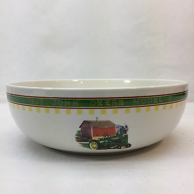 John Deere 1935 Model B Tractor Gibson Serving Bowl Dish Country Farm Vintage