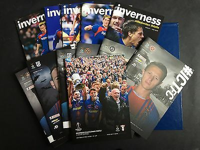 2008/09 & 2015/16 Various Home Inverness Caley Thistle Football Programmes