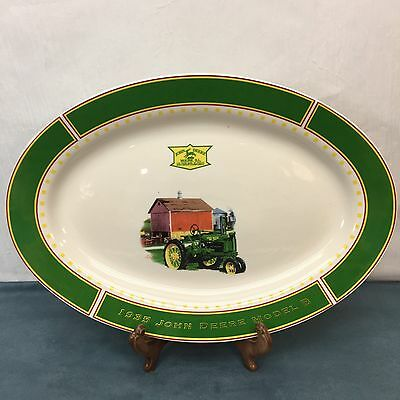 John Deere 1935 Model B Tractor Gibson Serving Platter Dish Country Farm Vintage