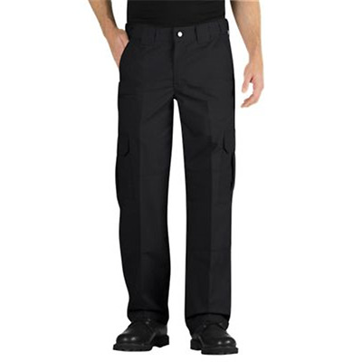 Dickies Men's Tactical Relaxed Fit Straight Leg Lightweight Ripstop Pants, Black
