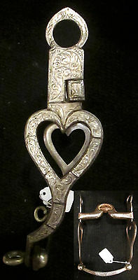"""5"""" Unmarked Heart Sterling Overlay Show Bit  - Copper Cricket"""