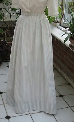 ANTIQUE VICTORIAN SUMMER SKIRT, COTTON, collectors, period events, theatre