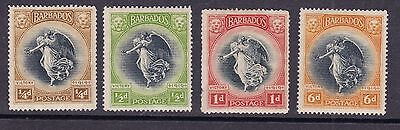 Barbados 1920-21 Mint MH Part Set Victory 1919 Lion Winged Goddess World War