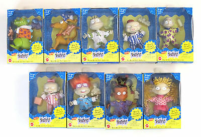 Rare 1998 Complete Set Of 9 Rugrats Slumber Party Collectible Mattel Nickelodeon