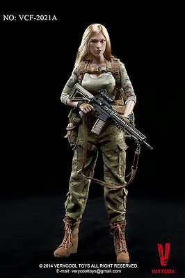 1:6 Scale VERYCOOL VCF-2021A Female Shooter CP Camouflage RARE