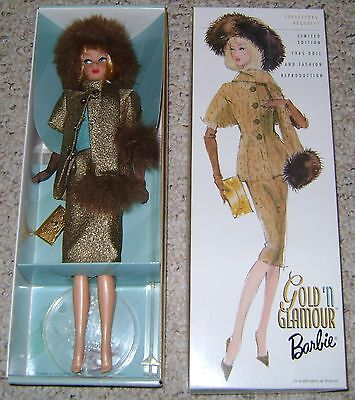 Reproduction BARBIE GOLD 'N GLAMOUR 2001 NRFB!  Wow!  FREE Shipping!
