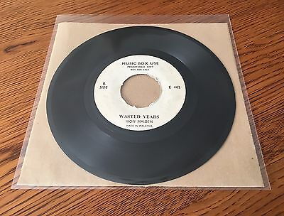 "Iron Maiden: 'Wasted Years' 1986 MALAYSIA 1-trk PROMO 7"" Vinyl Single Record"