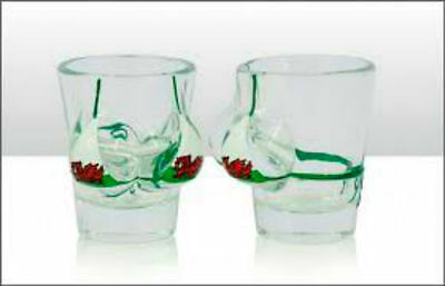 Welsh Flag Boobies Shot Glass - Great Novelty Souvenir Gift From Wales - Boobs