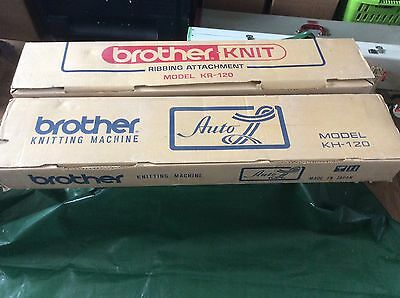 Brother KH120 & KR120 Knitting Machine And Ribber- Rare In Box Ex Condition