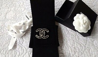 Chanel Baroque Brooch- Season 15V- Excellent with Box, Pouch, Camellia & Ribbon