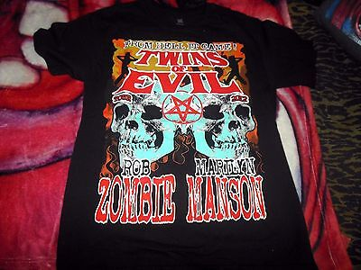 Marilyn Manson & Rob ZombieTwins of Evil From hell It Came Tour  T-Shirt Medium