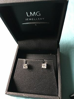 Bespoke 18ct white gold diamond stud earrings!