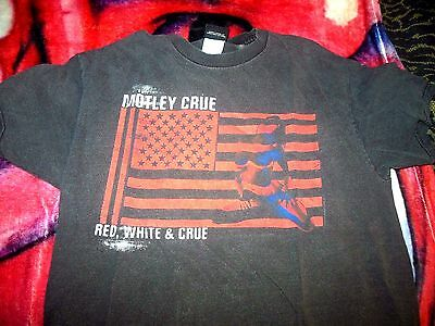 Motley Crue Red White & Crue  T-Shirt  medium