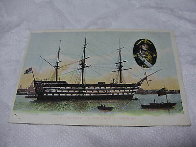 Lot10u c1905 HMS VICTORY in PORTSMOUTH HARBOUR Postcard ~ Lord Nelson