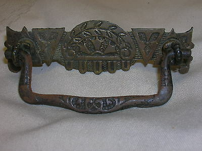 "Vintage Ornate Drawer Pull Detailing 3 3/4"" Long DIY Woodworking Hardware"