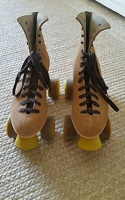 RIEDELL Roller Skates Womens Tan Suede