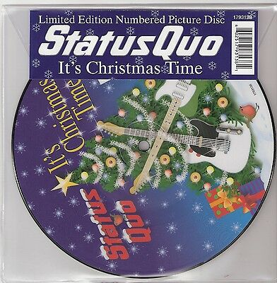 """Status Quo Picture Disc It's Christmas Time 7"""" Rare Pic Numbered Ltd Ed"""