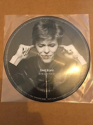 """David Bowie-'It's No Game' Mega rare Picture Disc 7"""" vinyl Speed of life new uk"""