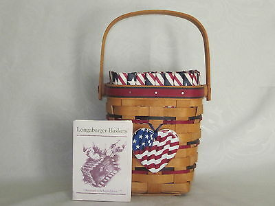 Longaberger 1995 All-American CARRY-ALONG Basket Combo w/ Tie-On & Product Card