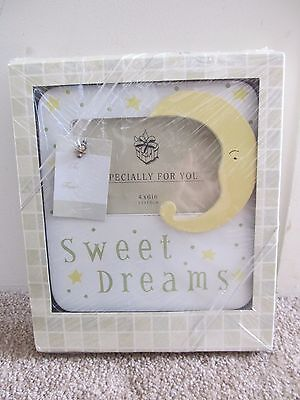 NEW Sweet Dreams Gift Boxed Picture Frame 4x6 Baby Photo Moon