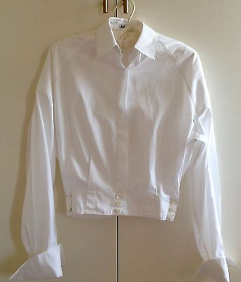 Azzedine Alaia Womens Shirt 1987 Rare Vintage size small White Cotton