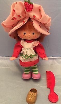 Vintage Strawberry Shortcake Doll American Greeting Corp, Kenner Toy & Red Comb