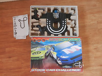 Boxed Micro Scalextric Set Stock Car Challenge Spares Missing Power Plug