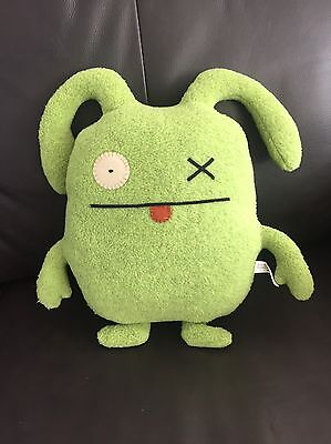"""Pretty Ugly Doll Monster Green 2003 Soft Plush 12"""" Toy Lovey OX T1"""
