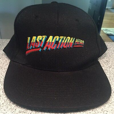 Vintage 1993 Last Action Hero Movie Film Official Skip Hat Cap Jack Slater