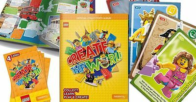 LEGO Create The World OFFICIAL Collectors ALBUM Book | SAINSBURYS Cards | *NEW*