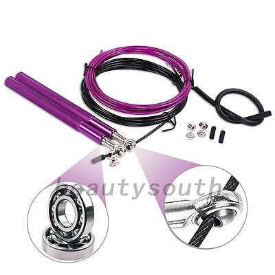 Steel Length Speed Adjustable Fitness Jumping Ultra Fast Wire Skipping Rope