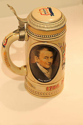 Molson 1986 Lidded Beer Stein Commemorating 200th Anniversary #12131 Rare