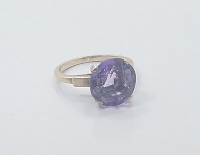 Beautiful Vintage Art Deco 20s 10k Rose Gold Amethyst Ladies Ring Size 5