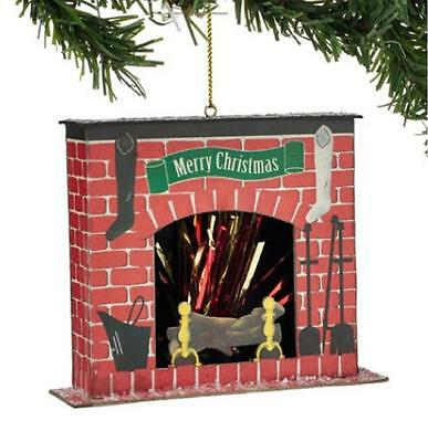 Department 56  Santa's Fireplace Christmas Tree Ornament