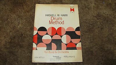 Drum Method: For Band and Orchestra Book 1 by Harr, Haskell W.,Music Instruction
