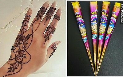 1 x  DARK BROWN TOP QUALITY HENNA MEHNDI CONES TEMPORARY TATTOO CONES FRESH