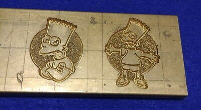 The Simpsons Brass Engraving Bart Prototype To Make Kids Rings One Of A Kind!