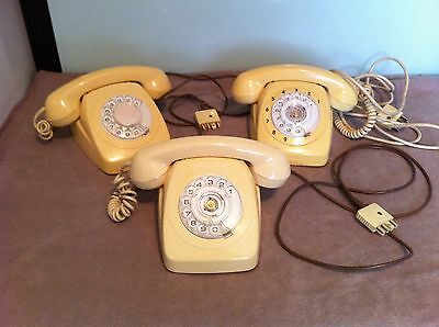 1970's  Rotary dial telephone lot  - ALL IN GOOD WORKING CONDITION - BARGAIN !!!