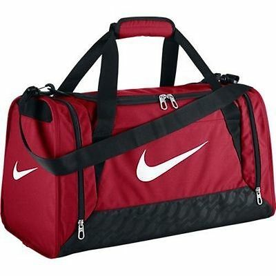 NWT NIKE Brasilia 6 DUFFEL SMALL Bag GYM RED Training Travel Beach Play 20x11x12