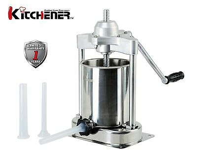 KITCHENER 15-lbs Heavy Duty Commercial Stainless Steel Sausage Meat Stuffer