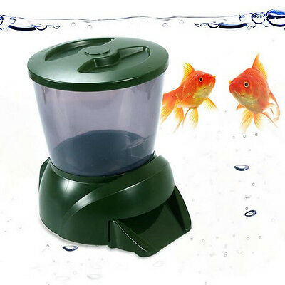 4.25L Food Hopper LCD Display Digital Automatic Pond Fish Tank Aquarium Feeder