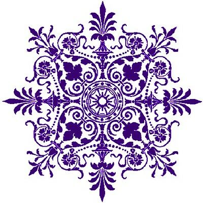 30 Custom Purple Victorian Snowflake Personalized Address Labels